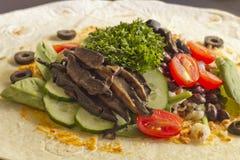 Veggie Wrap Stock Photo