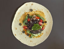 Veggie Wrap Royalty Free Stock Images