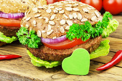 Veggieburger Stock Photo
