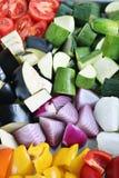 veggies świeża przygotowywająca pieczeń Zdjęcie Stock