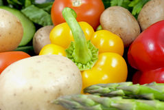 Veggies. Close-up of a small variety of vegetables Royalty Free Stock Photo