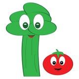 Veggies amichevoli illustrazione di stock
