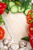 Veggies auf die Tabellenoberseite Lizenzfreie Stockfotos