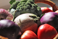 Veggies in a Basket_6 Stock Image