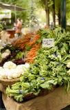 Veggies bij een Markt Royalty-vrije Stock Afbeeldingen