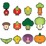 Veggies de bande dessinée Mascotte de Veggies illustration de vecteur