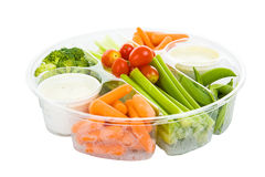 Veggies and Dip with Path Stock Photography