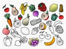Veggies e frutta illustrazione di stock