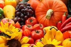Veggies en bloemen royalty-vrije stock fotografie