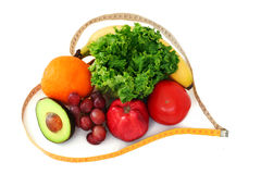 veggies för frukthjärtaband Fotografering för Bildbyråer
