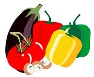 Veggies freschi della stagione royalty illustrazione gratis