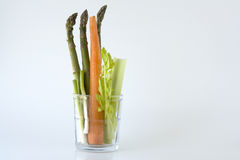 Veggies in a glass. Royalty Free Stock Image