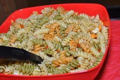 Veggies and macaroni salad Stock Photo