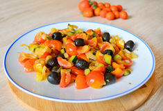 Veggies in a plate Royalty Free Stock Photo