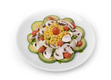 Veggies Salad with Avocado Stock Images