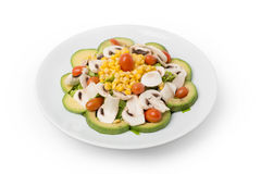 Veggies Salad with Avocado Stock Photo