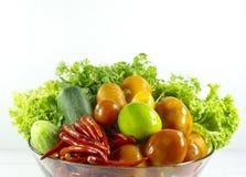 veggies salade, dieet, vegetariër, veganistvoedsel, vitaminesnack, Hoogste mening, Exemplaarruimte voor ontwerp stock afbeelding