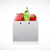 Veggies and shopping bag illustration design Royalty Free Stock Images