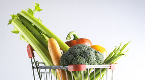 Veggies in a shopping cart Stock Photo