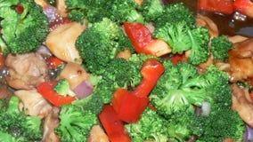 veggies stir fry цыпленка Стоковое Фото