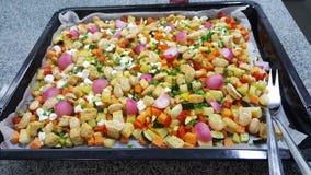 Veggies. Tasty mixed veggies /w quorn Royalty Free Stock Images