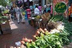 Veggies voor Verkoop bij de Markt van de Landbouwer Royalty-vrije Stock Foto
