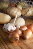Veggies y cebollas de la raíz Imagen de archivo