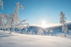 Veggli-Landschaft im Winter Lizenzfreie Stockbilder