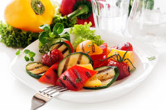 Veggy Succulent grilled vegetables Stock Photo
