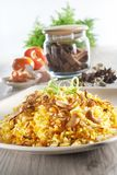 Vegitarian Nasi Briyani Royalty Free Stock Images