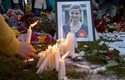 Veglia di Candllelit per il mp assassinato, Jo Cox fotografia stock libera da diritti