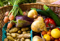 Vegtable Basket Royalty Free Stock Photography