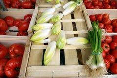 Vegtables al mercato degli agricoltori, Francia Fotografie Stock