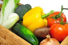 Vegtables dans le panier d'A Images stock