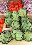 Vegtables at farmers market, France Stock Image