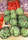 Vegtables am Landwirtmarkt, Frankreich Stockbild