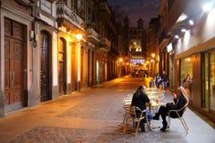 Vegueta, Las Palmas. LAS PALMAS, SPAIN - NOVEMBER 29, 2015: People visit Vegueta Old Town in Las Palmas, Gran Canaria, Spain. Canary Islands had record 12.9 stock photos