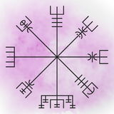 Vegvisir - the Magic Navigation Compass Royalty Free Stock Photography
