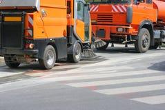 Vehículo 5 de la limpieza de la calle foto de archivo