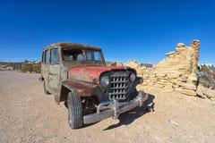 Vehículo abandonado en Terlingua Tejas Imagen de archivo
