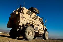 Vehículo blindado checo en Afganistán Foto de archivo