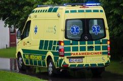 Vehículo danés de la emergencia Imagen de archivo