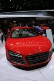 Vehículo de Audi en el salón del automóvil fotografía de archivo libre de regalías
