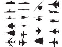 Vehículo de ejército Silhoettes libre illustration