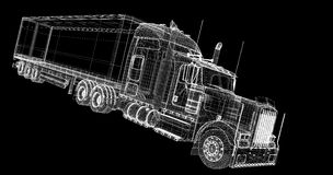 Vehículo de entrega del cargo Imagen de archivo libre de regalías