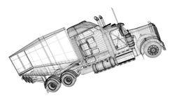 Vehículo de entrega del cargo Imagenes de archivo