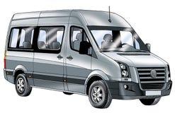 Vehículo de la clase de economía del minivan que dibuja un transporte comercial del motor del minivan Imagen de archivo