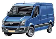 Vehículo de la clase de economía del minivan que dibuja un transporte comercial del motor del minivan Fotos de archivo