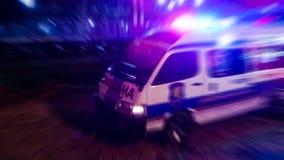 Vehículo de la evacuación de la emergencia listo para el rescate Fotografía de archivo libre de regalías