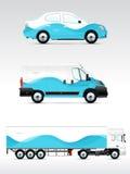 Vehículo de la plantilla para hacer publicidad, calificar o la identidad corporativa Fotografía de archivo